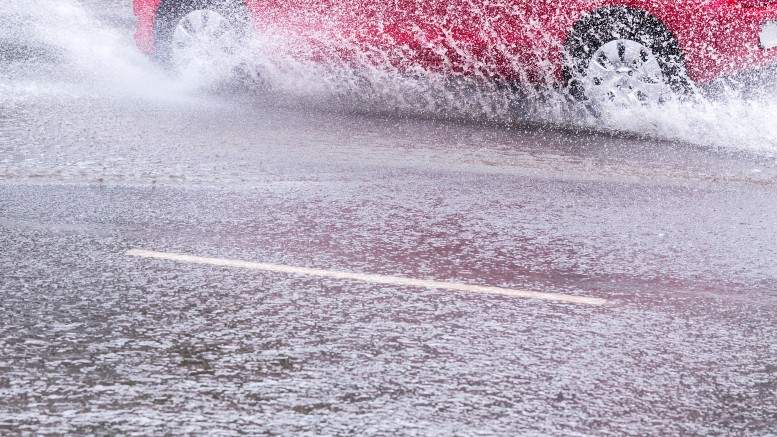 Red Car Splashes